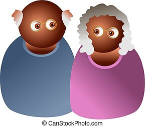 elderly couple - icon people