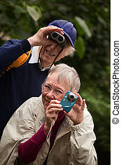 Elderly Couple in Forest