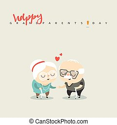 Elderly couple in love, for the character of the...