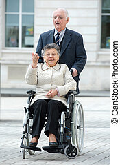 elderly couple on the stroll