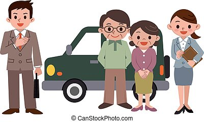 Elderly couple to buy a car