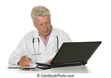 doctor with a laptop