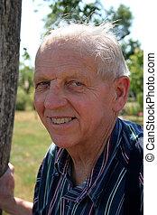 Elderly gentleman smiling