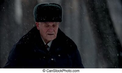 Elderly grandfather - lost grandfather is walking in the ...