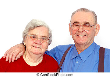 Elderly happy couple