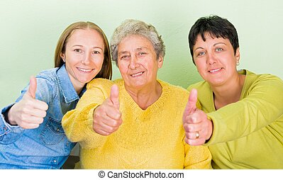 Elderly home care - Photo of elderly woman with her ...