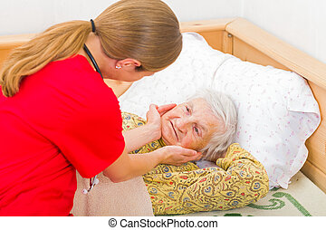 Elderly home care - Photo of elderly woman with the ...