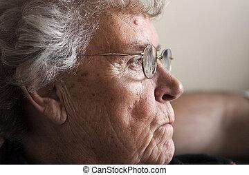 elderly lady in 70's