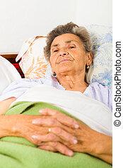 Elderly Lady Praying
