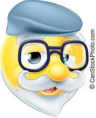 Elderly Man Emoji Emoticon
