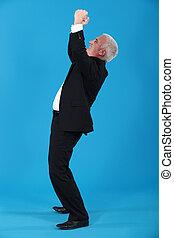 Elderly man euphoric