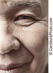 Elderly man - Face of elderly man looking at camera. ...