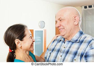 elderly man with beloved woman - elderly man with beloved...