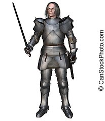 Elderly Mediaeval Knight - Elderly Mediaeval knight in 15th...