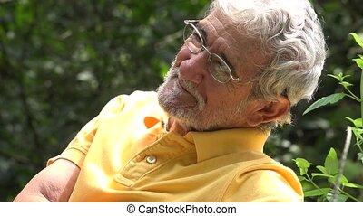 Elderly Old Man Outdoors