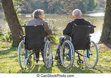 elderly on wheelchair