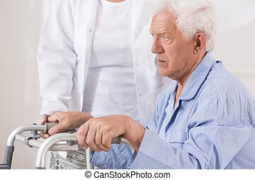 Elderly patient with walking problem