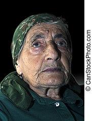 elderly portrait