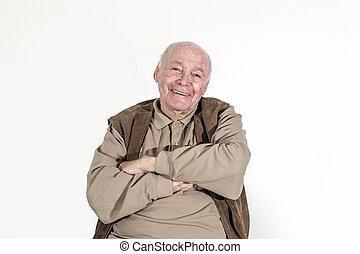 elderly retired man - portrait of elderly retired man...