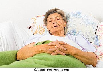 Elderly Saying Prayers