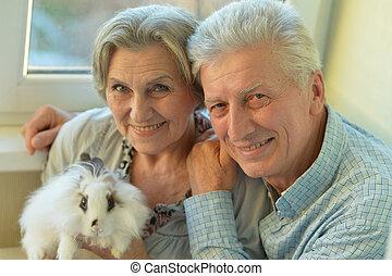 elderly senior couple