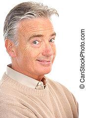 Elderly senior man