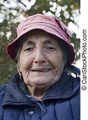 elderly smile