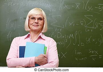 Elderly teacher