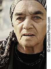 Elderly woman closeup