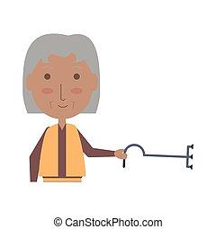 elderly woman icon