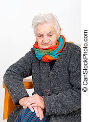 Elderly woman on therapy