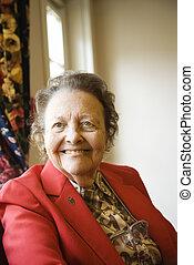 Elderly woman portrait.