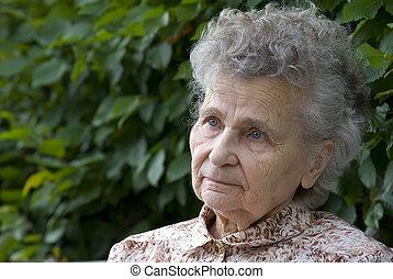 elderly woman  - portrait of the elderly woman