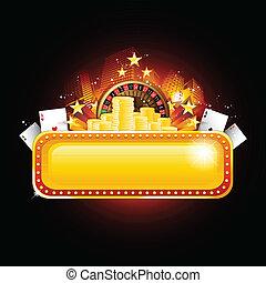 eldgaffel, kasino, bakgrund