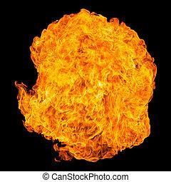 eldkula, explosion