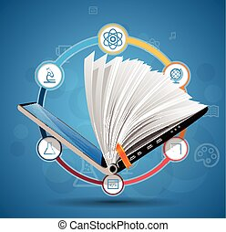 Elearning concept - online learning system - knowledge...