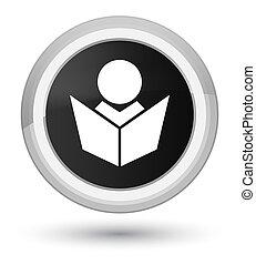 Elearning icon prime black round button