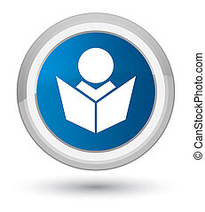 Elearning icon prime blue round button