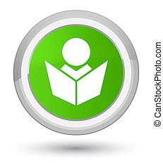 Elearning icon prime soft green round button