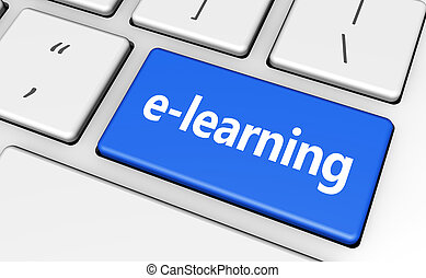 Elearning Key Education Concept - E-learning online...