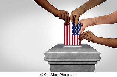 elección, estados, unido