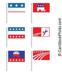 elección, insignias