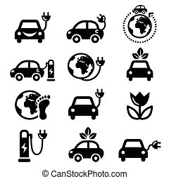 Electic car, green or eco transport