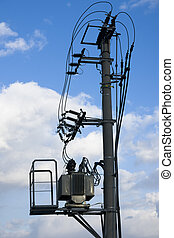 electicity, 無料で, 変わる, サブステーション, 空気
