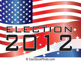 ELECTION 2012 Illustration - Election 2012 with Stars and...