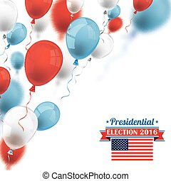 Election 2016 Colored Balloons