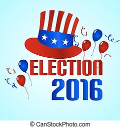 election 2016 in the united states of america eps10