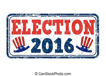Election 2016 stamp