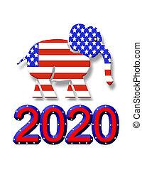Election 2020 GOP elephant graphic