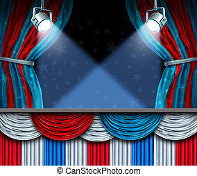 Election Background - Election background or fourth of July...